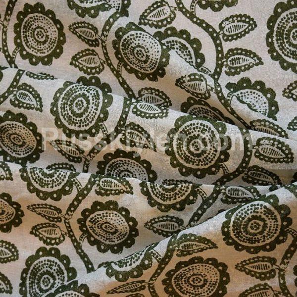 Ткань лен 100% Подсолнухи 115 см