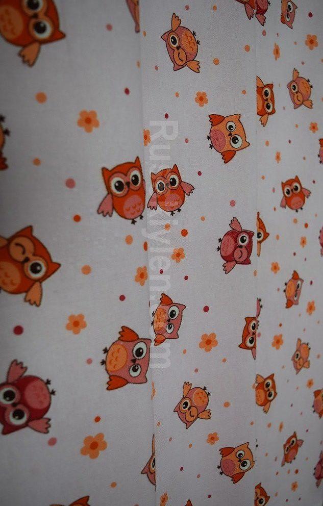 Детская ткань с совятами