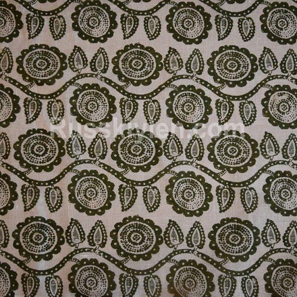 Ткань с растениями