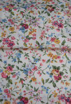 Хлопок для платья в мелкий цветочек