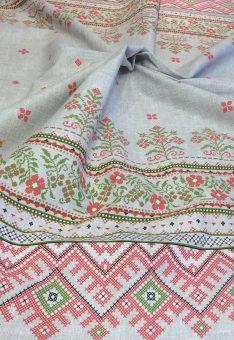 Ткань Вышиванка 2 хлопок рогожка