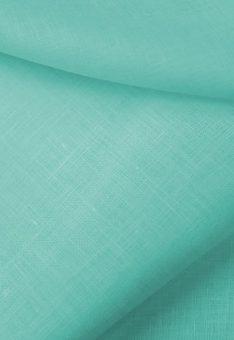 Ткань 100% лен морской волны костюмный однотонный 150 см