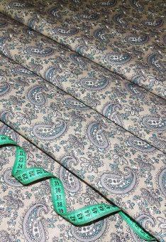 Ткань Хлопок Бязь Рис. Огурцы на бежевом