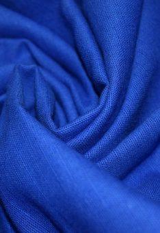 Ткань лен полулен Синий однотонный 150 см ширина