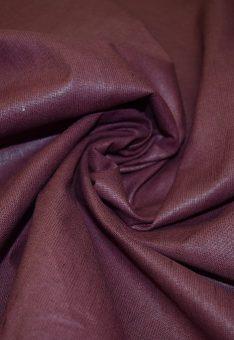 Ткань лен полулен Бордово-коричневый 150см