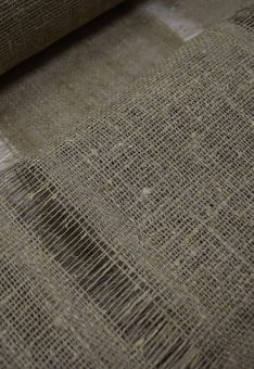 Ткань декоративная льняная мешковина 110 см