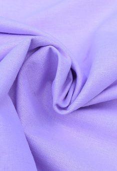 Ткань лен полулен сиреневый однотонный 150 см