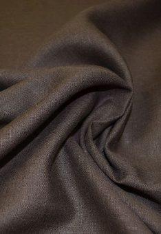 Ткань 100% лен коричневый костюмный однотонный 150 см