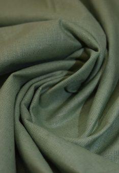 Ткань лен полулен оливковый 150 см