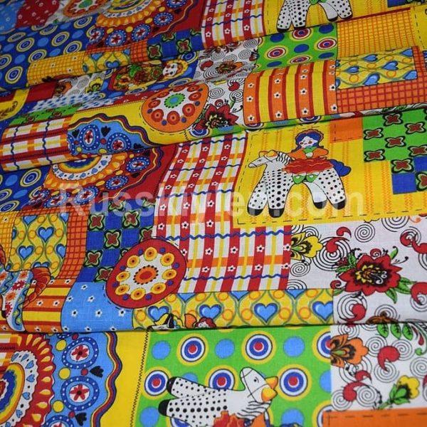 Ткань русские игрушки