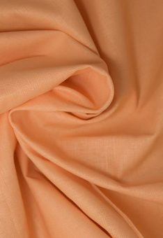 Ткань лен полулен Персиковый однотонный 150 см ширина
