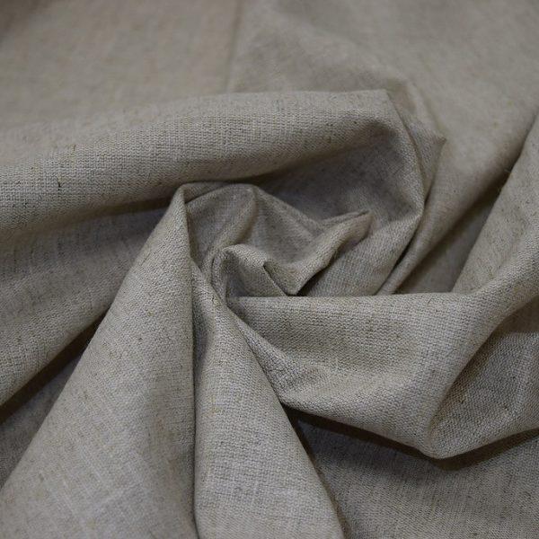 Ткань лен полулен натурального цвета 150 см плотный