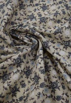 Ткань голубо-серые цветы