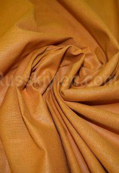 Ткань лен полулен охра однотонный 150 см