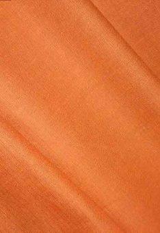 Ткань лен полулен Оранжевый однотонный 150 см ширина
