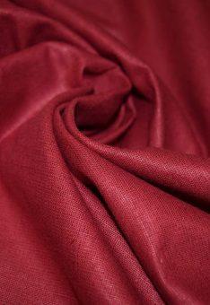 Ткань лен полулен Бордовый однотонный 150 см ширина