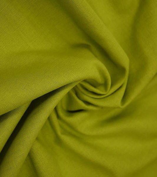 Ткань лен полулен Салатовый однотонный 150 см ширина