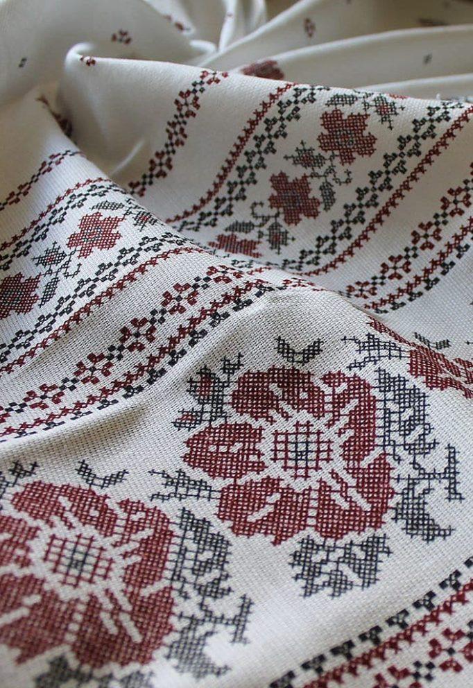 Ткань Вышиванка 1 хлопок рогожка