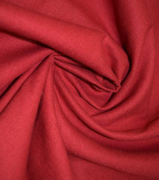 Ткань лен полулен Малиновый однотонный 150 см ширина