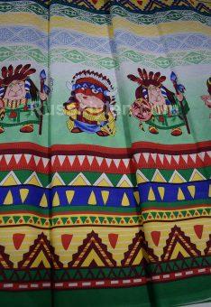 Ткань хлопок бязь Индейцы и ВигВам