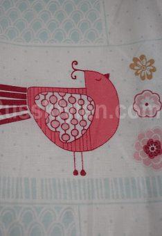 Ткань хлопок бязь Пэчворк с птичками