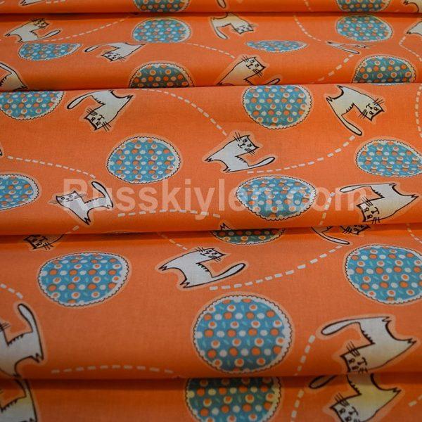 Ткань Котики хлопок перкаль 150 см