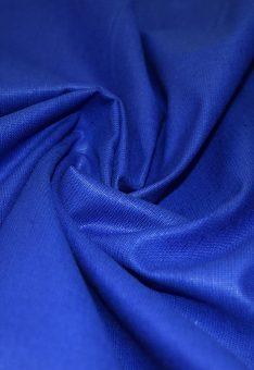 Ткань лен полулен ярко-синий 150 см