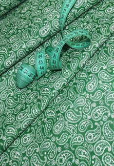 Ткань Хлопок Бязь Рис. Огурцы зеленый