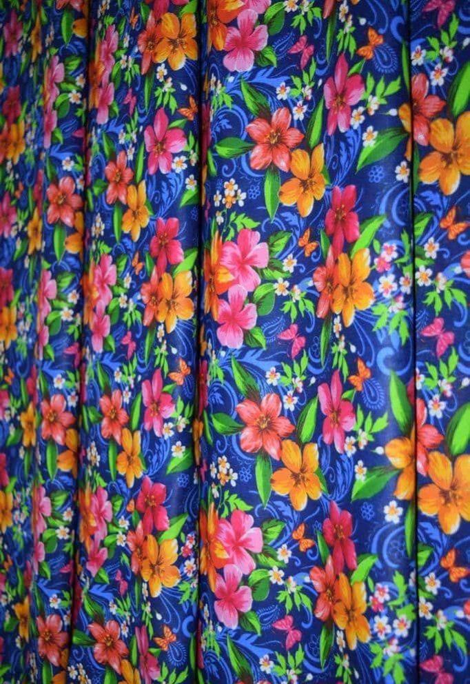 Ткань с цветочками