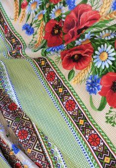 Ткань для полотенец с маками
