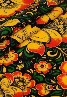 Ткань хохлома