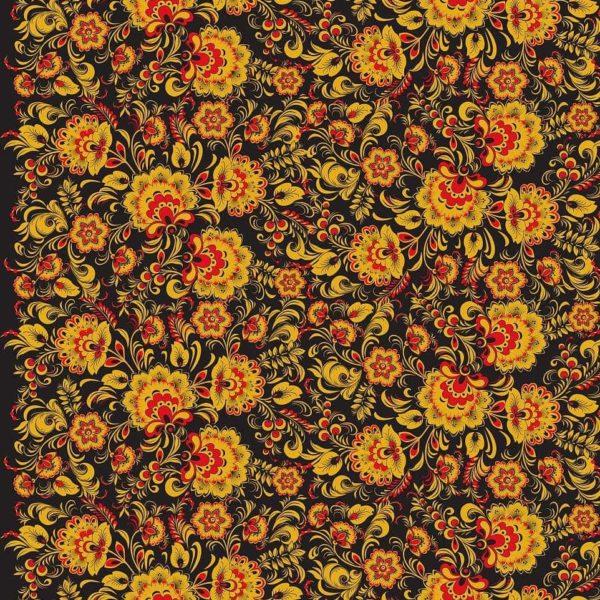 Ткань Хохлома классическая
