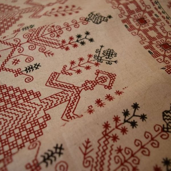 ткань вышивка с макошью