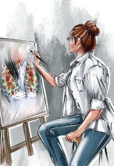индивидуальный дизайн рисунка