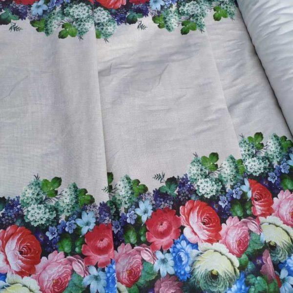 жостовская роспись ткань
