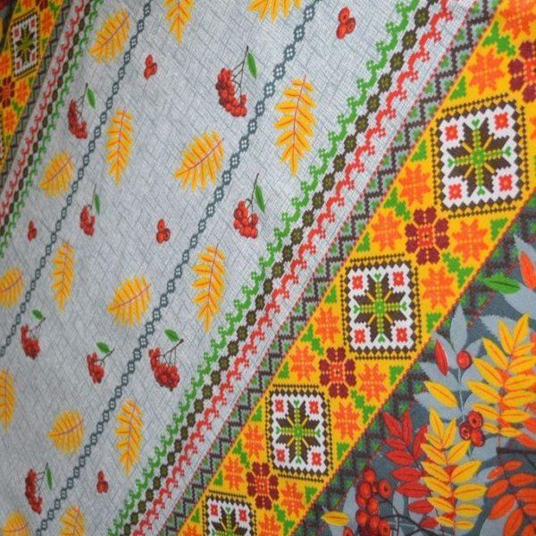 ткань рябина вышиванка