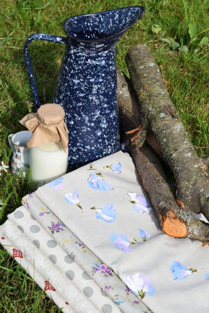 Натуральные ткани цветущий горошек