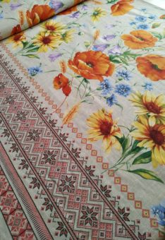 ткань полевые цветы