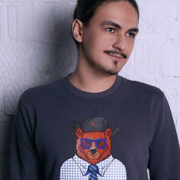 Свитшот с русским мишкой