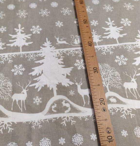 ткань со снежинками на сером