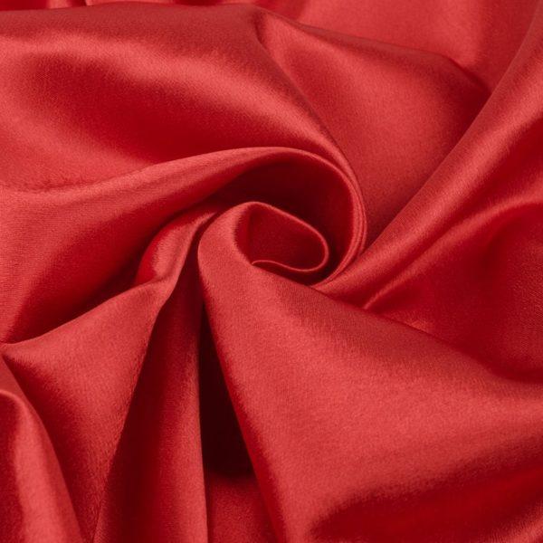 атлас красный однотонный