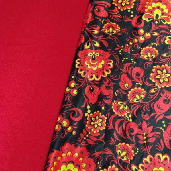 атласная ткань красная