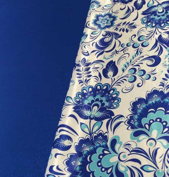 синий креп-сатин