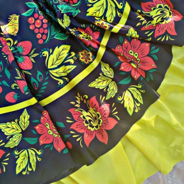Хохлома атлас для юбки солнце