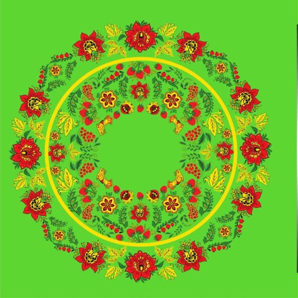 хохлома зеленая атлас