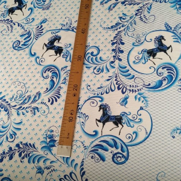 ткань с русскими лошадками