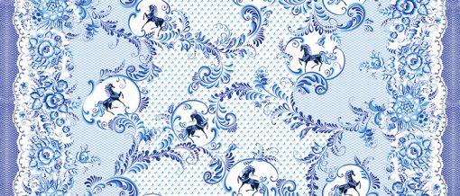 ткань с лошадками