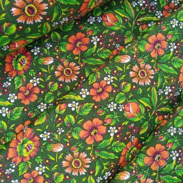 Ткань с русскими цветочками