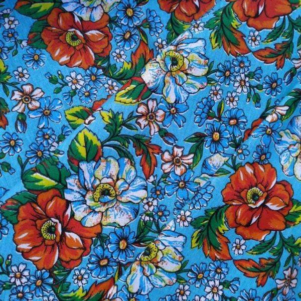 ткани с маками и цветами