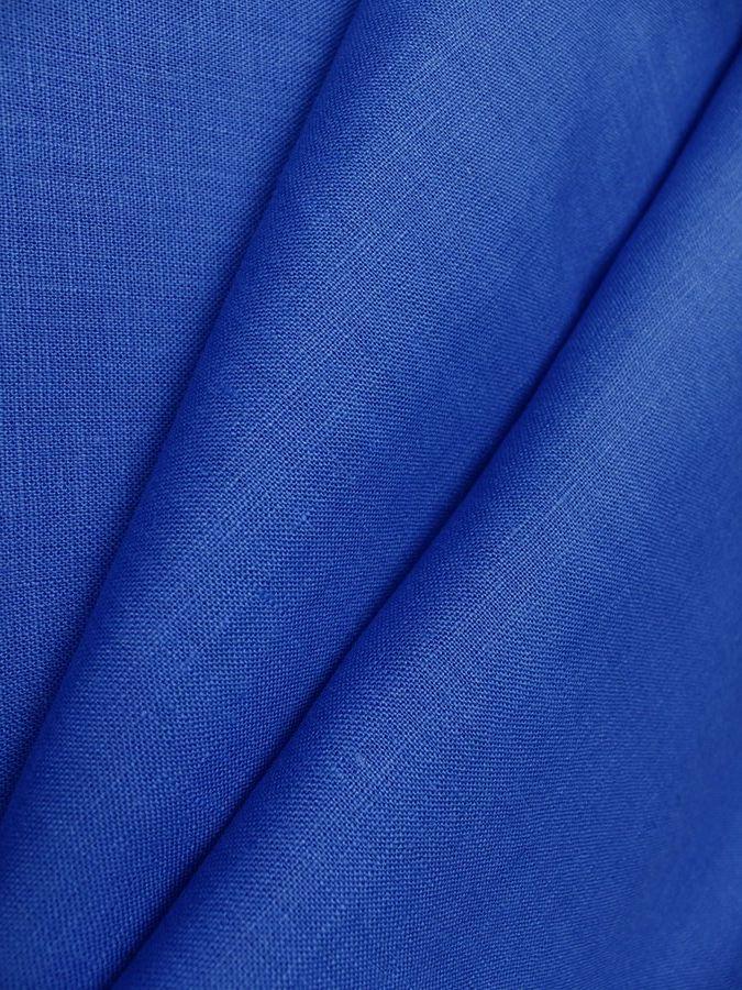 Синяя льняная ткань